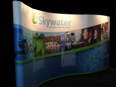 Skywater trade booth